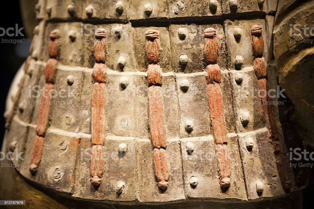 Armour Detail - The Terracotta Army stock photo