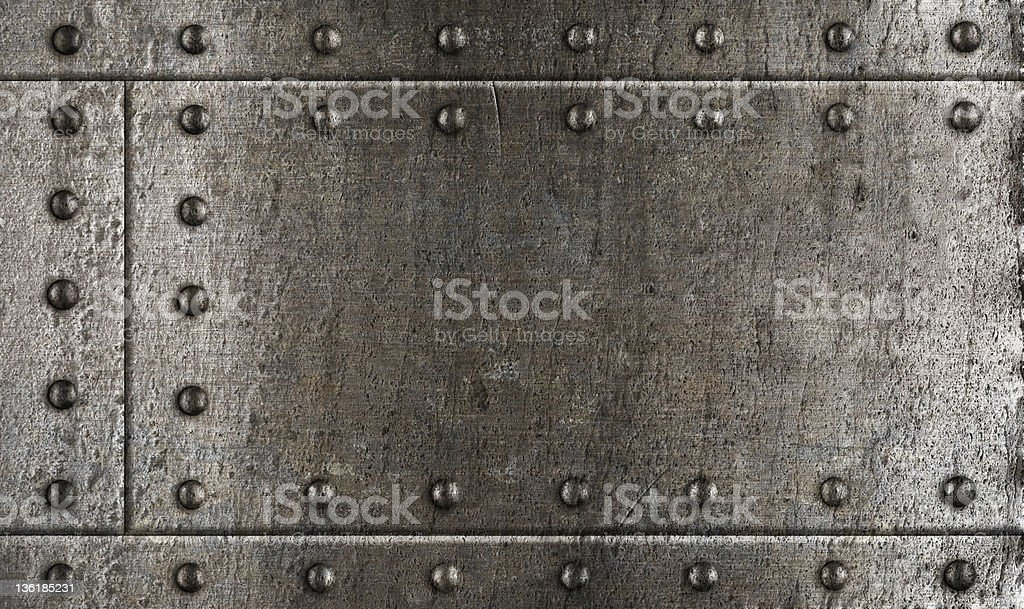 armour metal background with rivets royalty-free stock photo