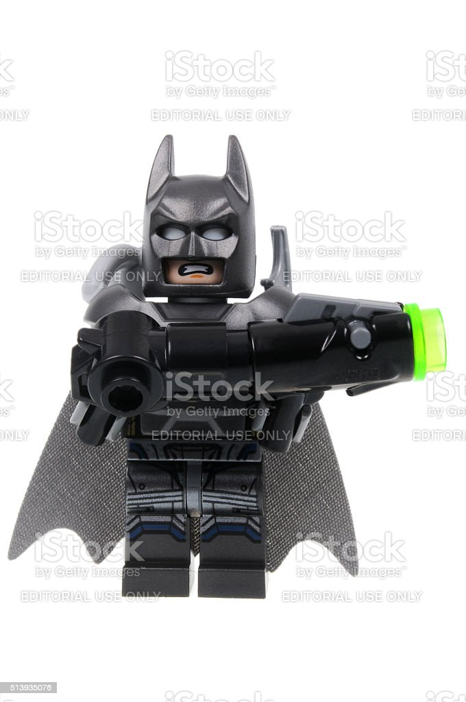 Armoured Batman Lego Minifigure stock photo