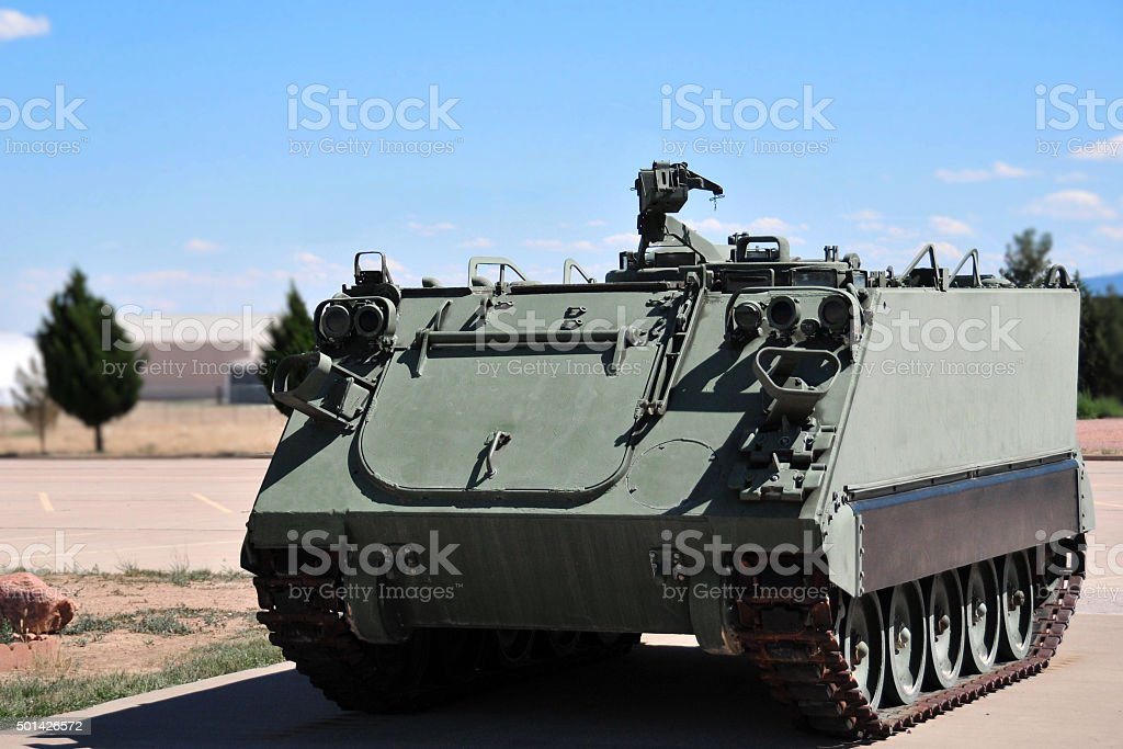 M113 armoured personnel carrier stock photo