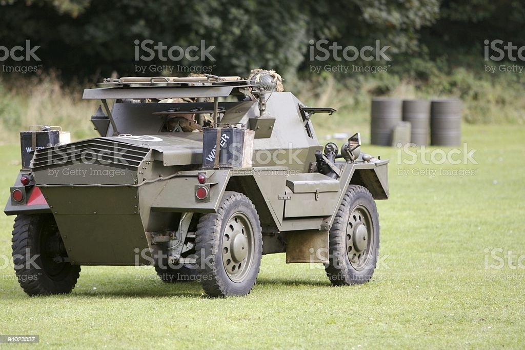 WWII armoured vehicle stock photo