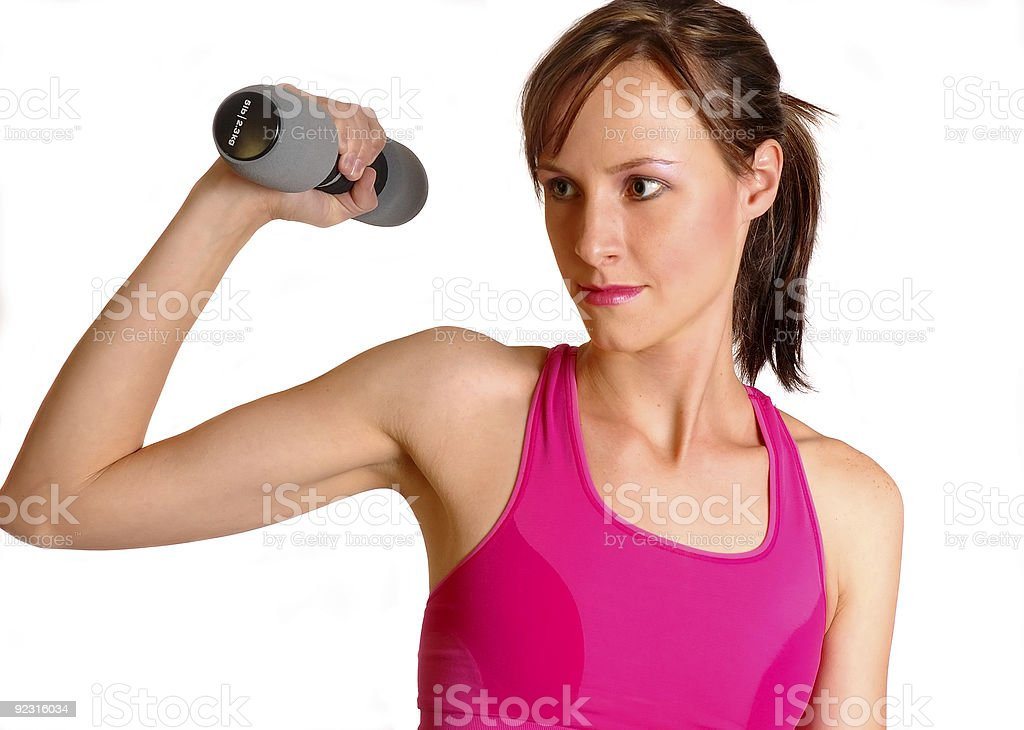 Arms Fit Female royalty-free stock photo
