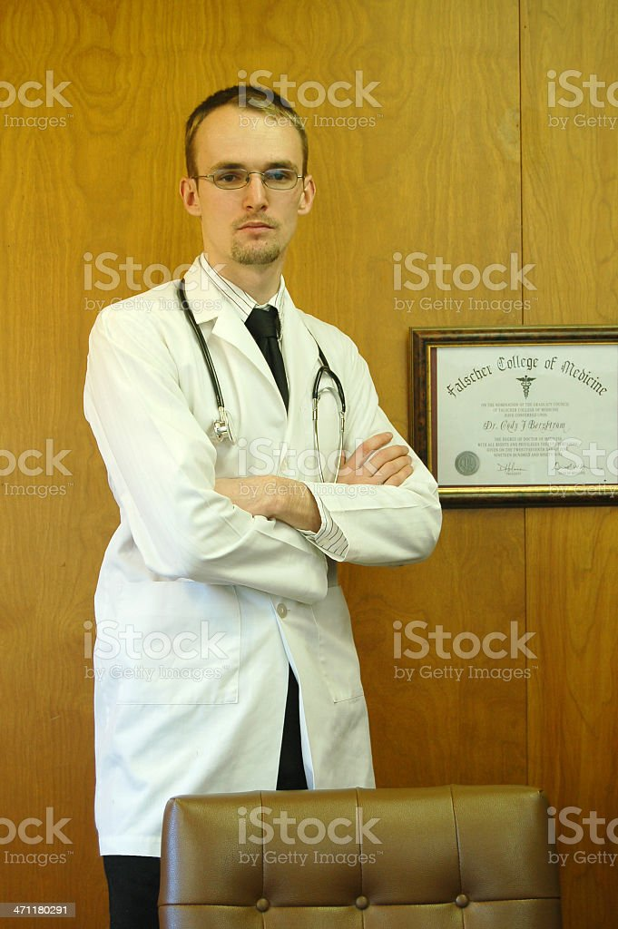 Arms Folded Doctor stock photo