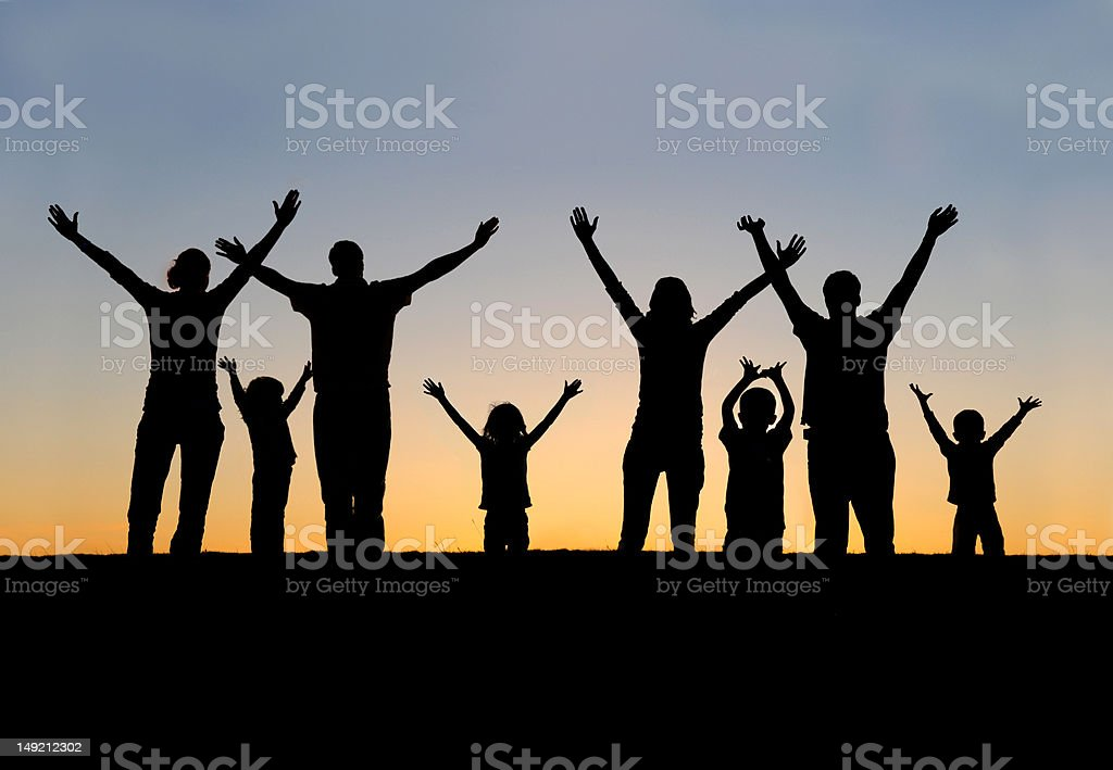 Arms Lifted High stock photo