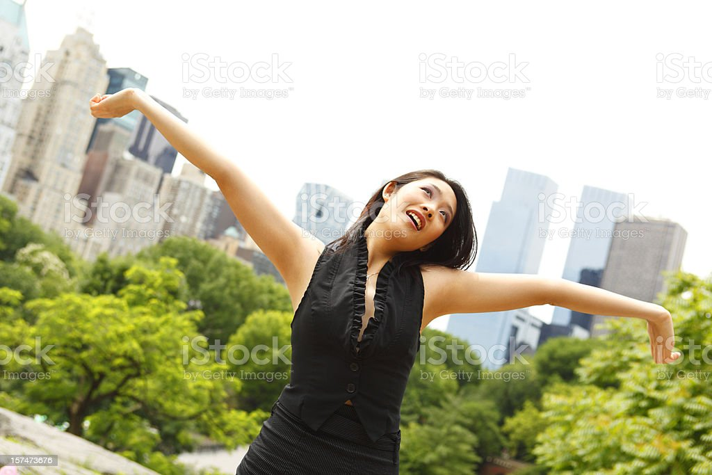 Arms Outstretched royalty-free stock photo