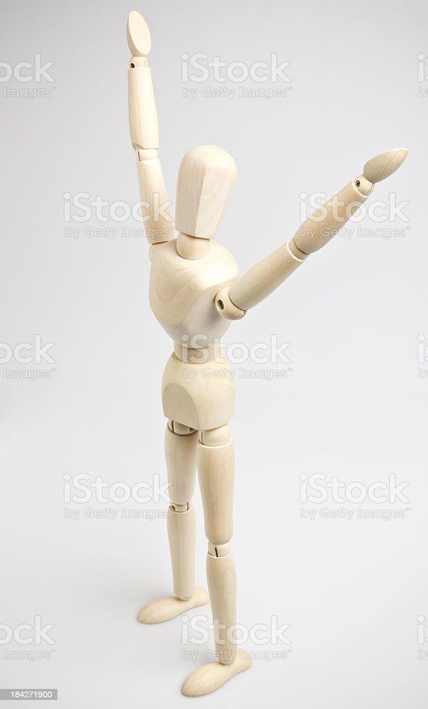 Arms Raised stock photo