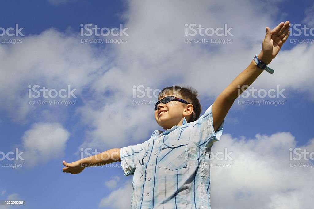 Arms Spread Out stock photo