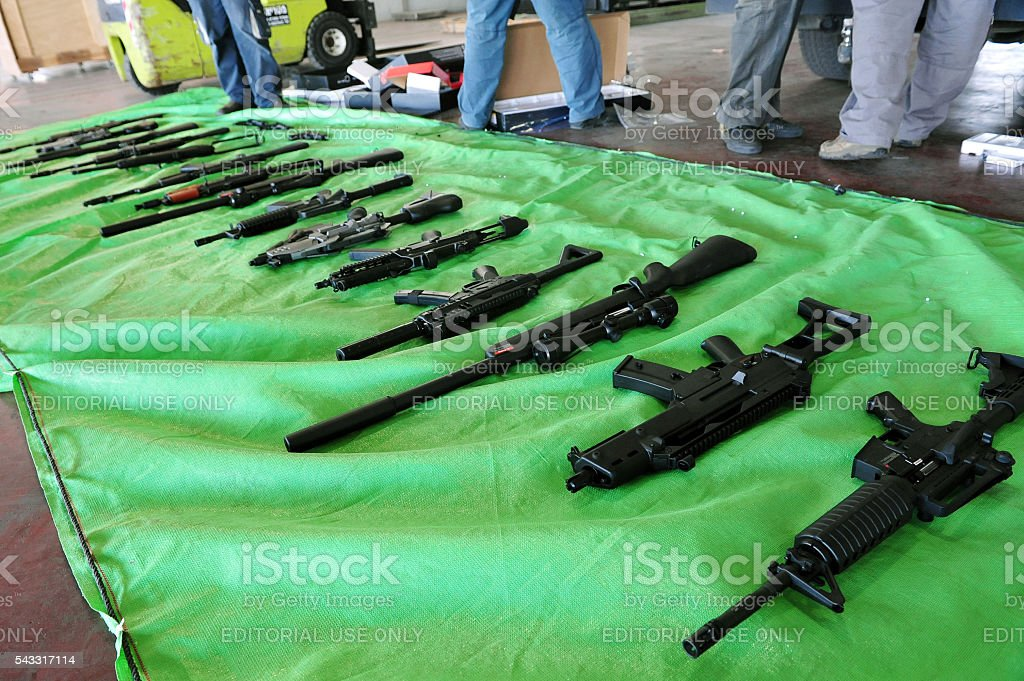 Arms trafficking stock photo