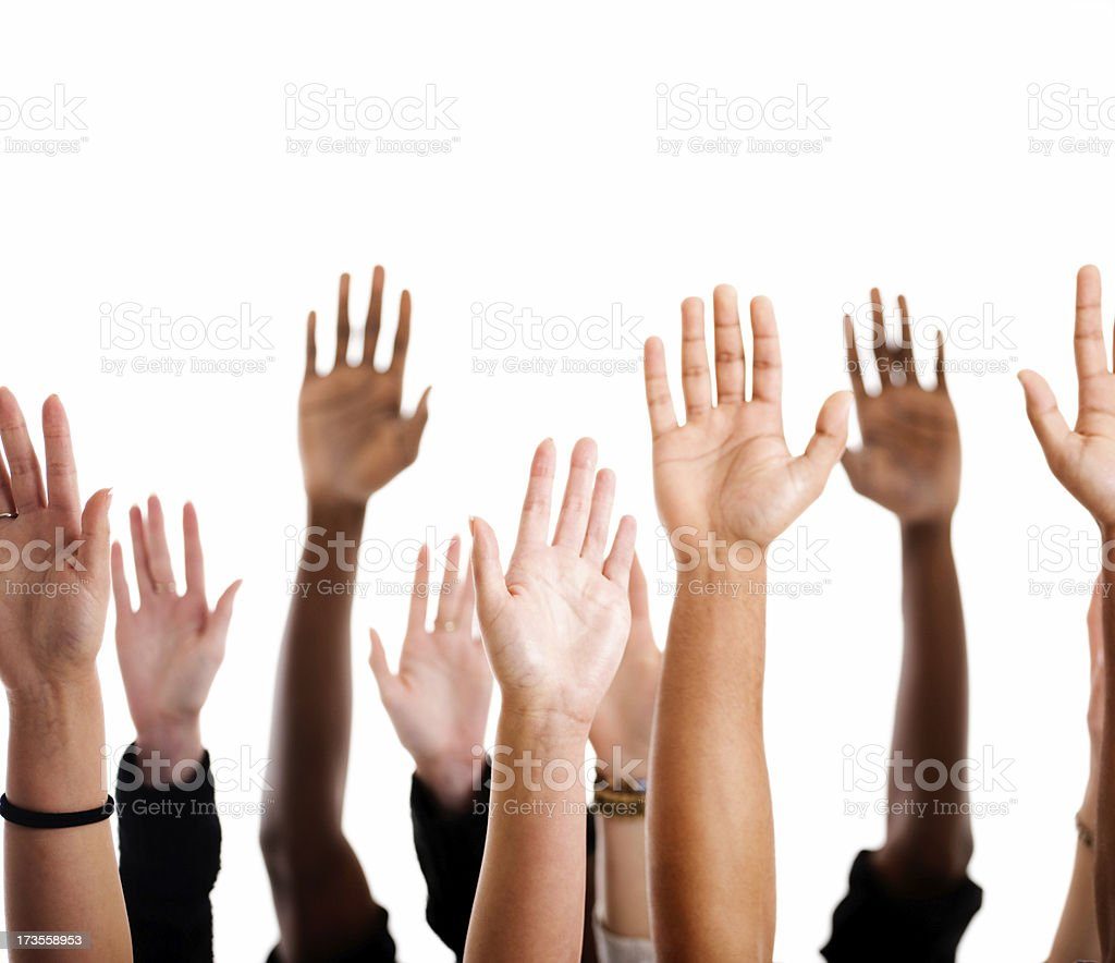 Arms up stock photo