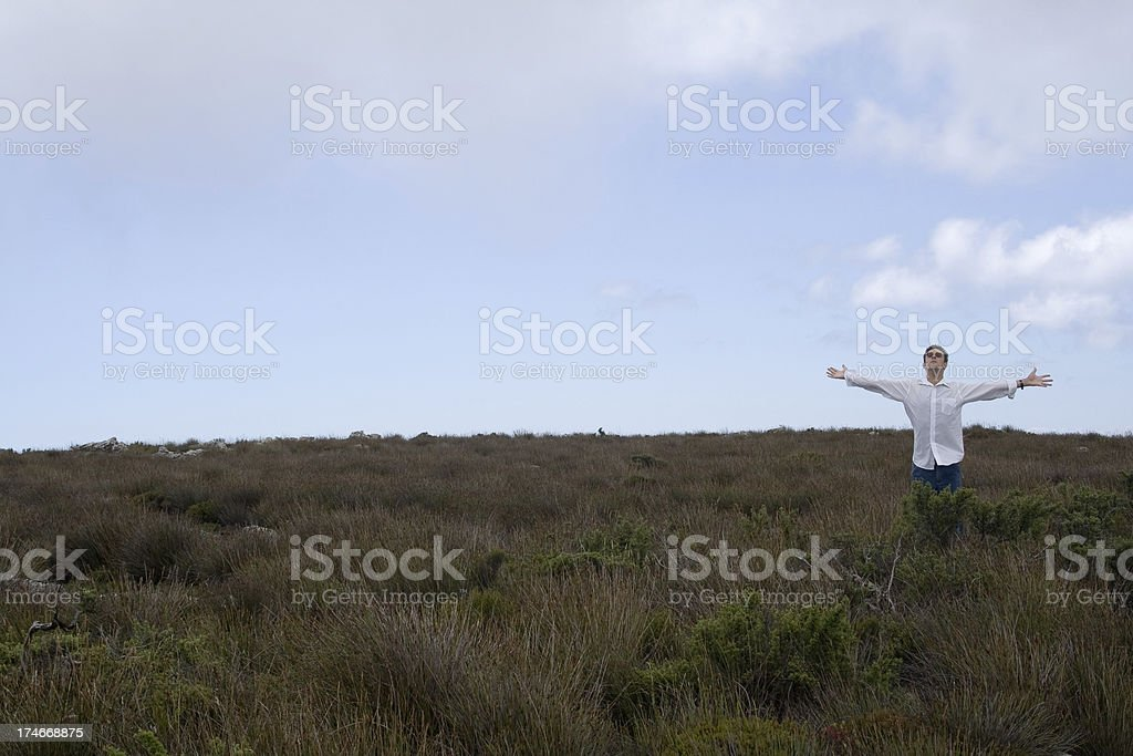 Arms wide open royalty-free stock photo
