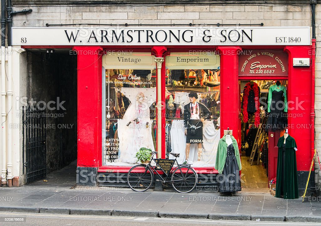 Armstrong's shopfront in Edinburgh's Grassmarket stock photo