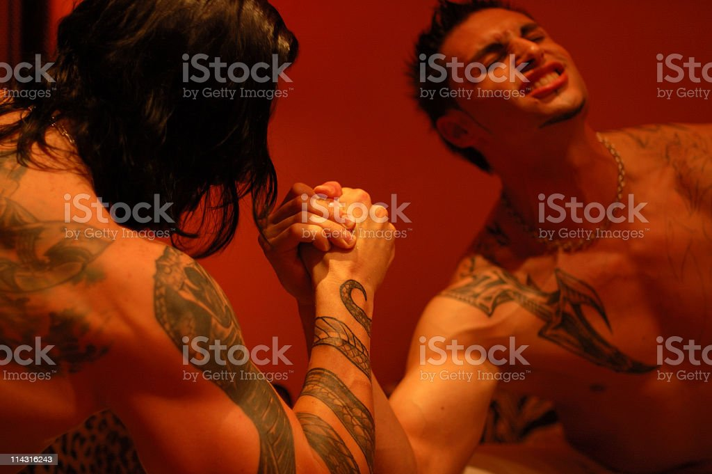 Armwrestling Battle royalty-free stock photo