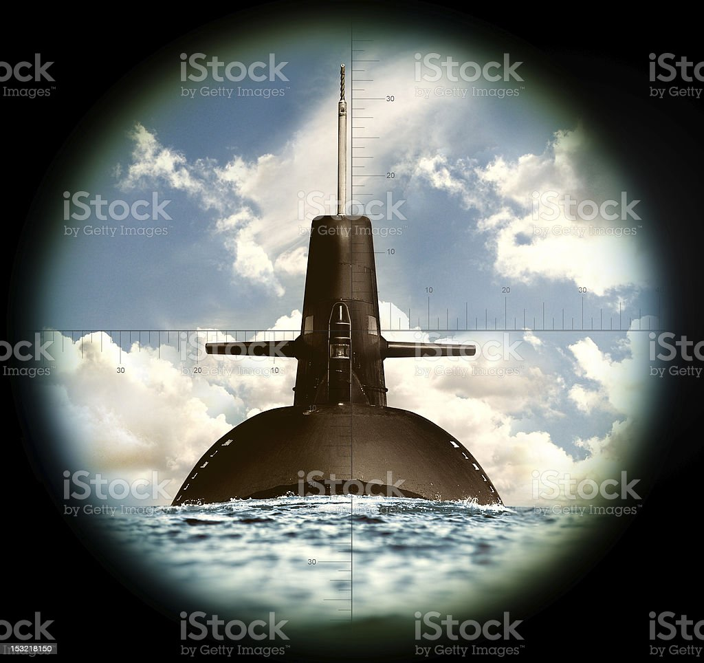 Army and it's weapon in the sea stock photo