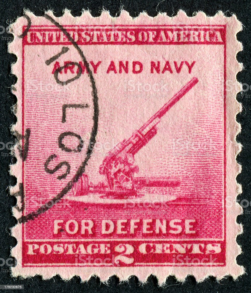 Army And Navy Stamp stock photo