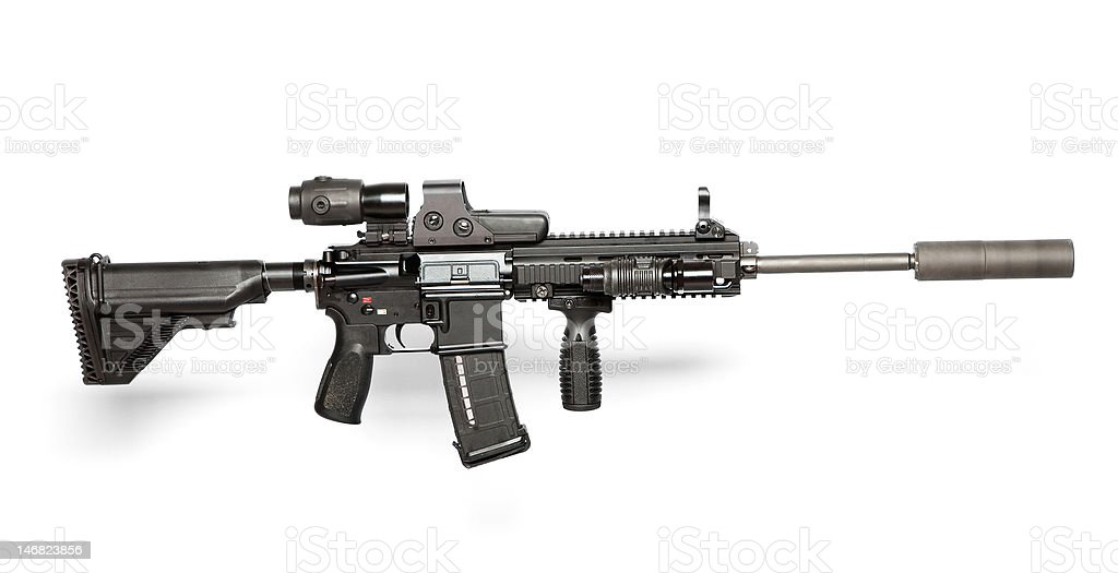 US Army assault rifle stock photo