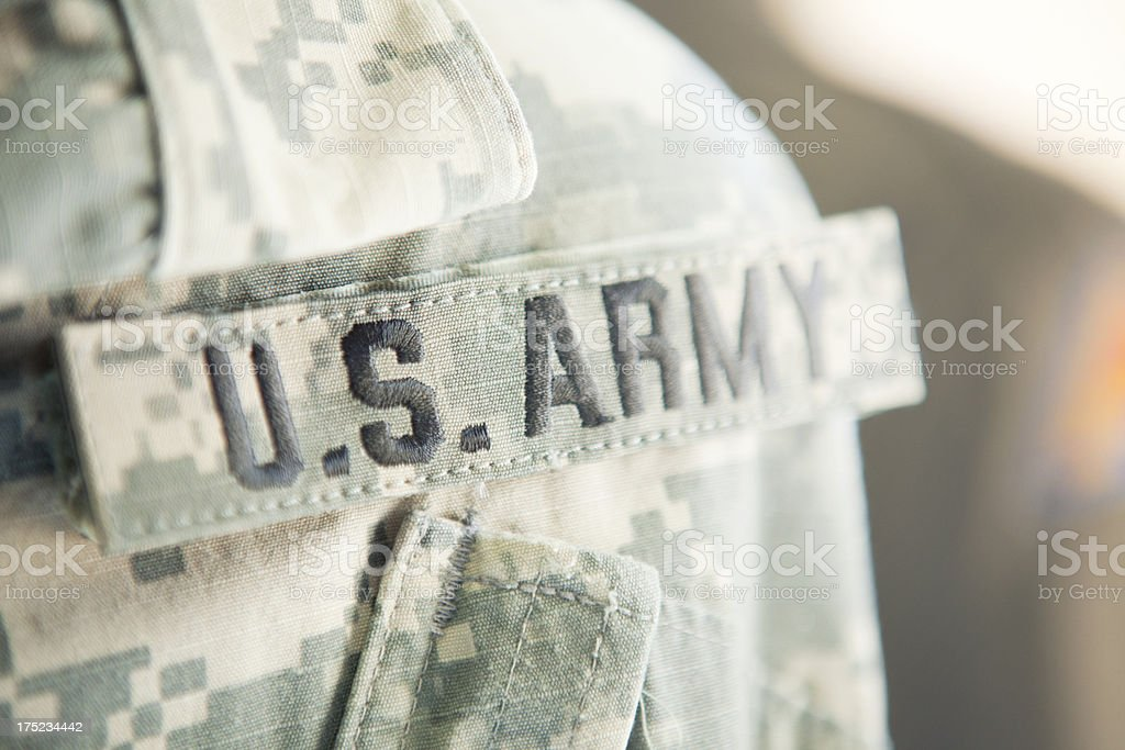 US Army Badge stock photo