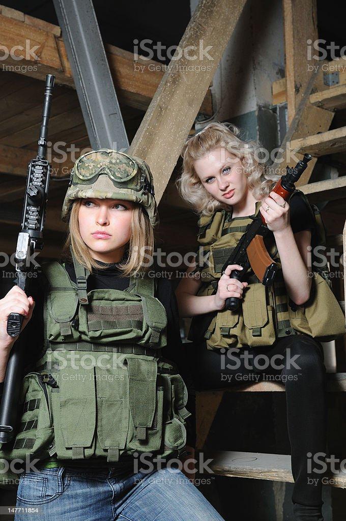 Army beauty royalty-free stock photo