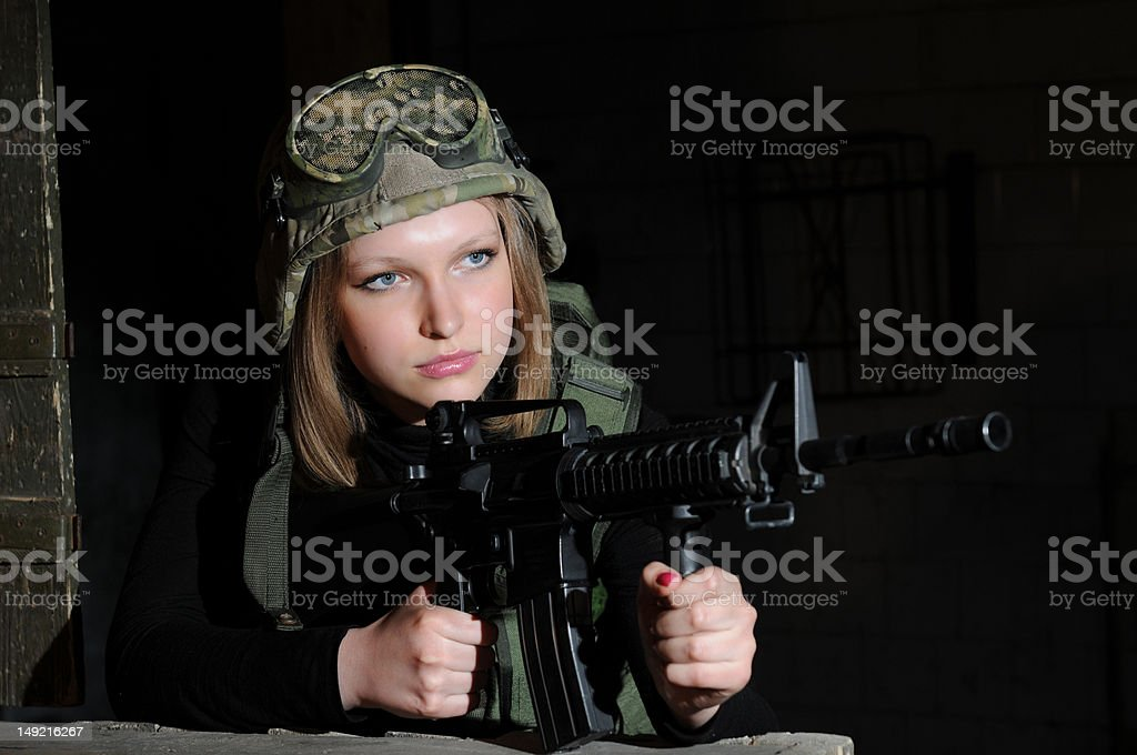Army beauty royalty-free stock photo