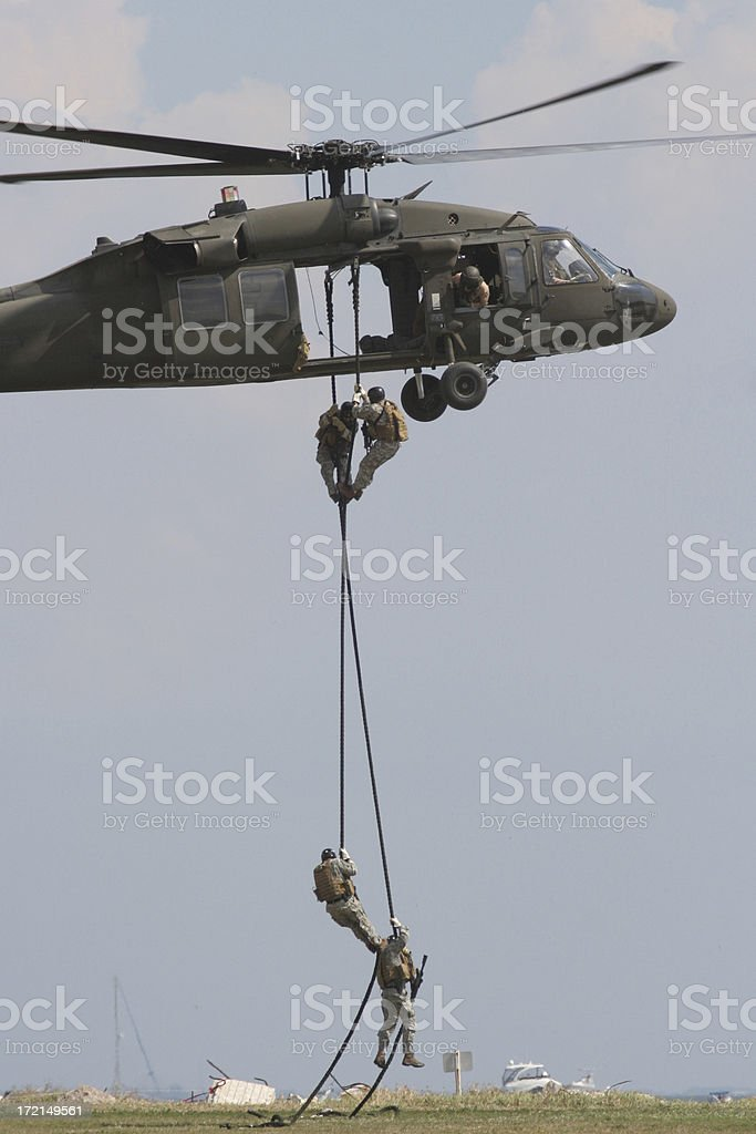 US Army Black Hawk Helicopter stock photo