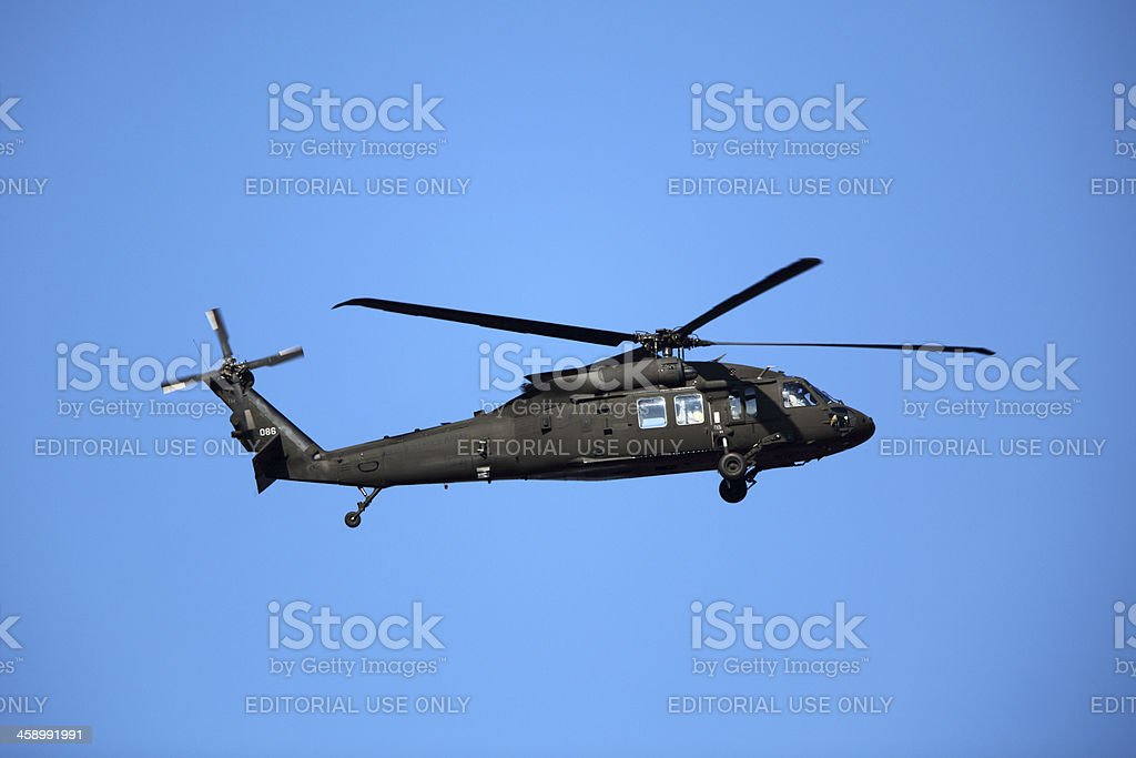 US Army Blackhawk Helicopter stock photo