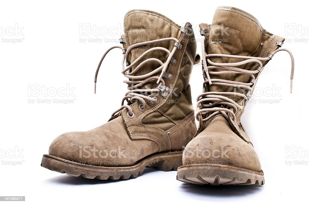Army Boots stock photo