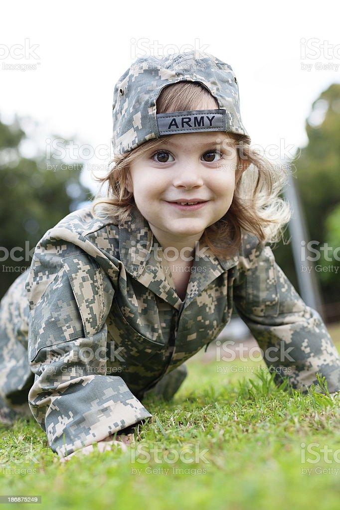 Army Boy royalty-free stock photo