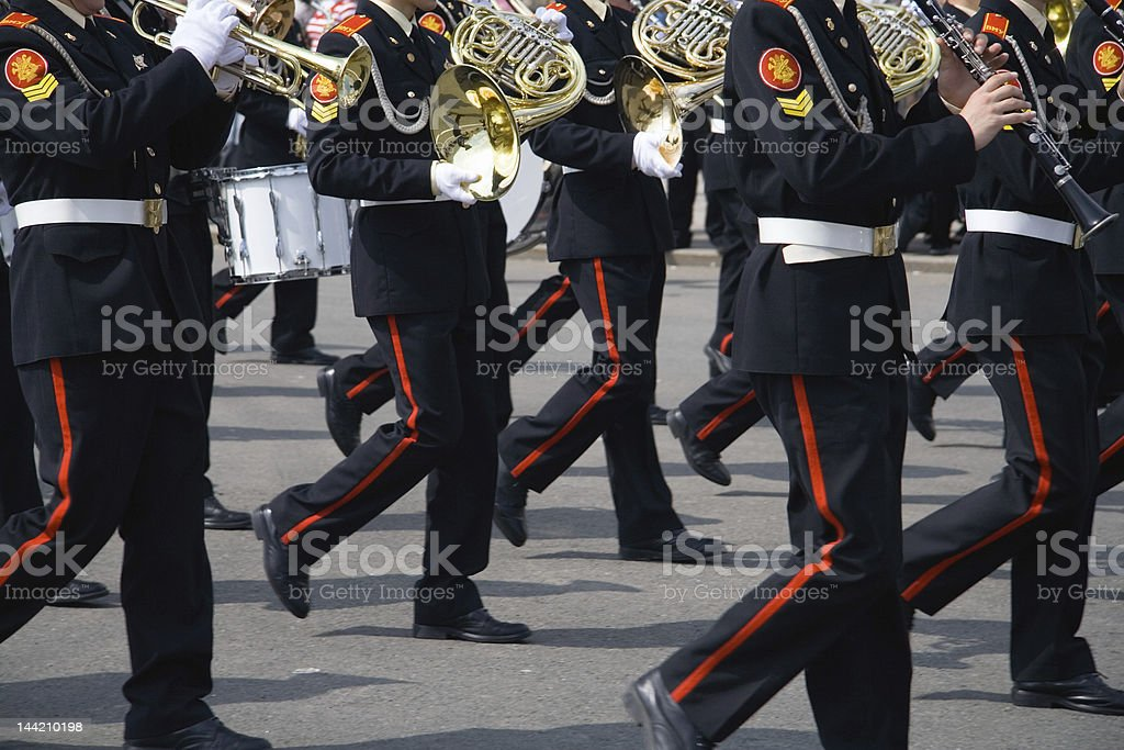 Army brass band royalty-free stock photo