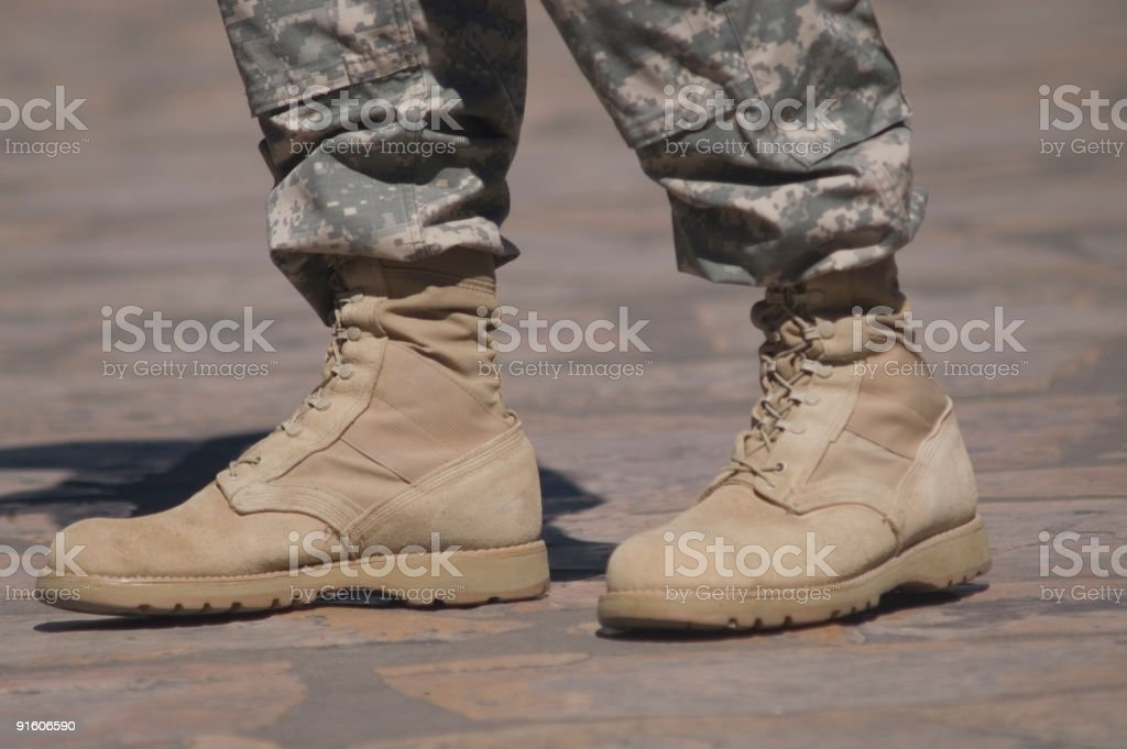 Army Cadet Boots stock photo
