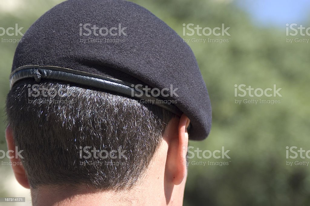 Army Cadet with Beret stock photo