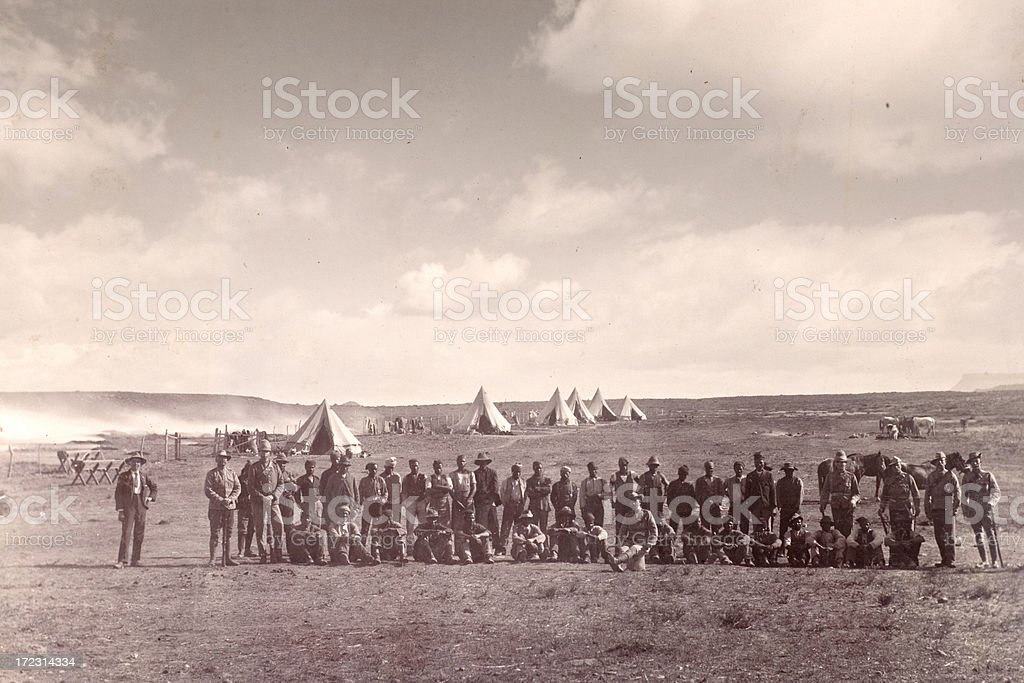 Army camp royalty-free stock photo