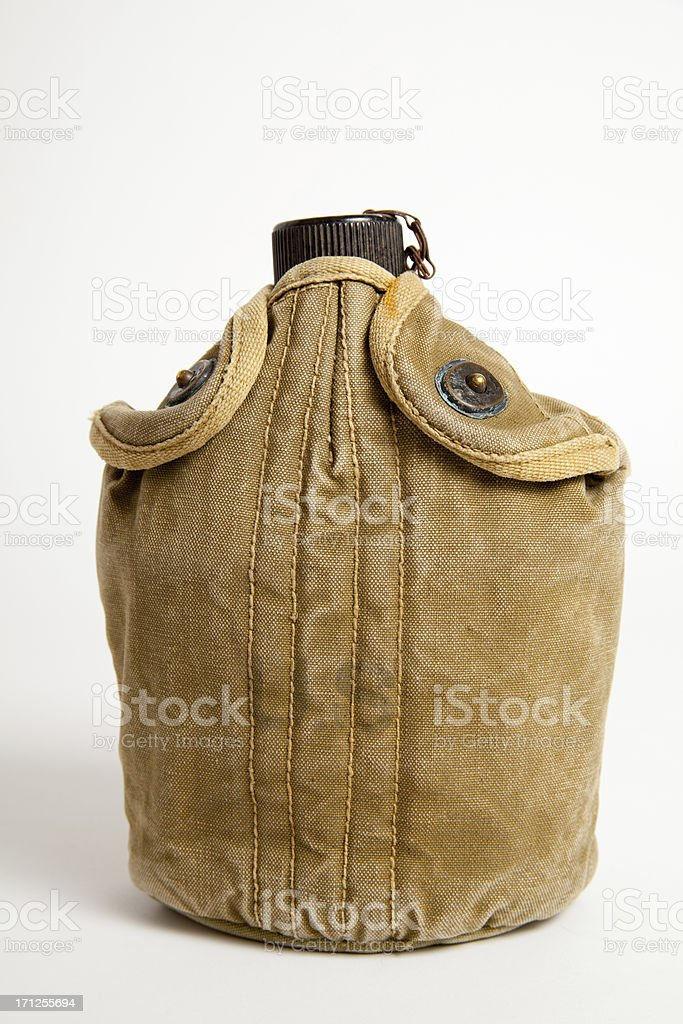 WW2 US Army Canteen stock photo