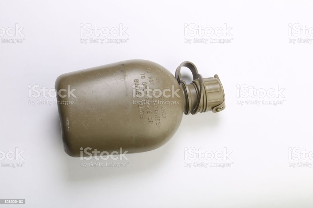 Army canteen stock photo