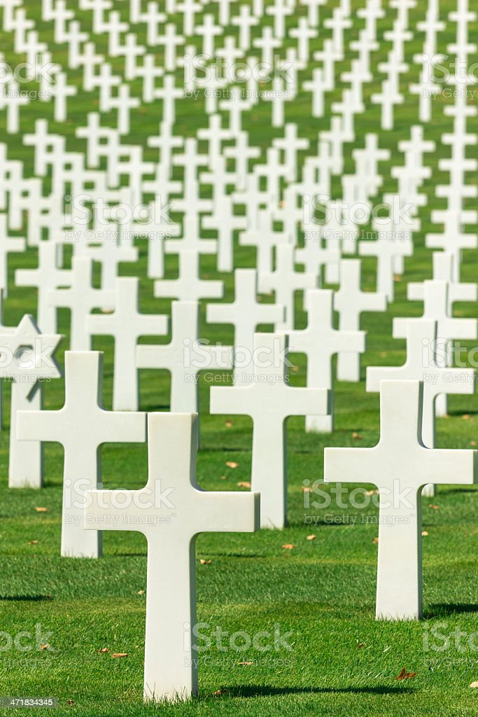 US Army Cemetery royalty-free stock photo