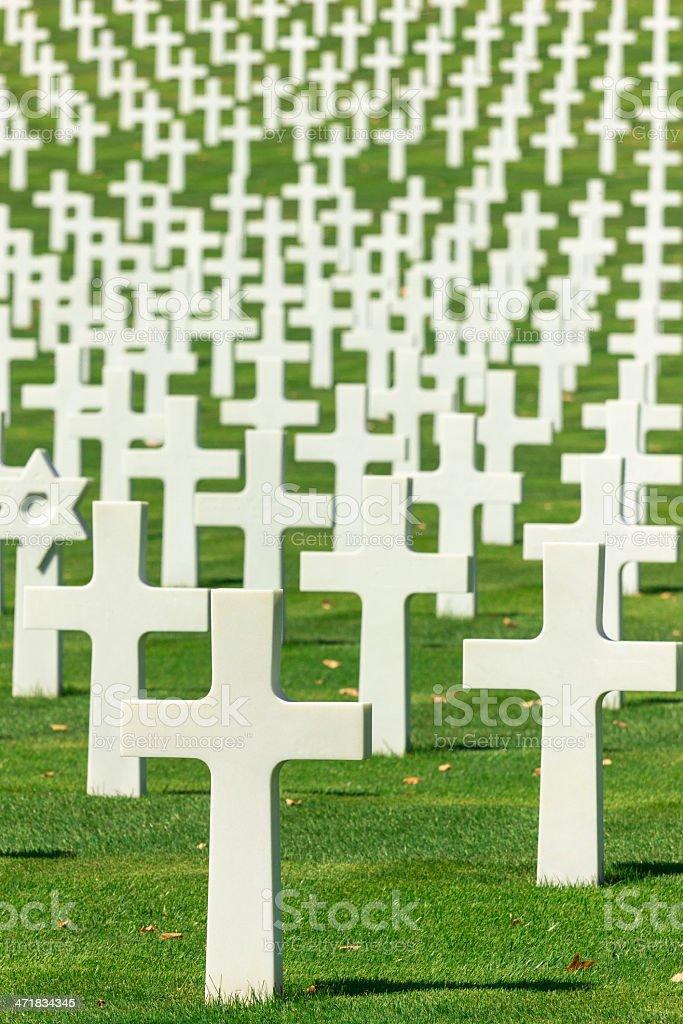 US Army Cemetery stock photo