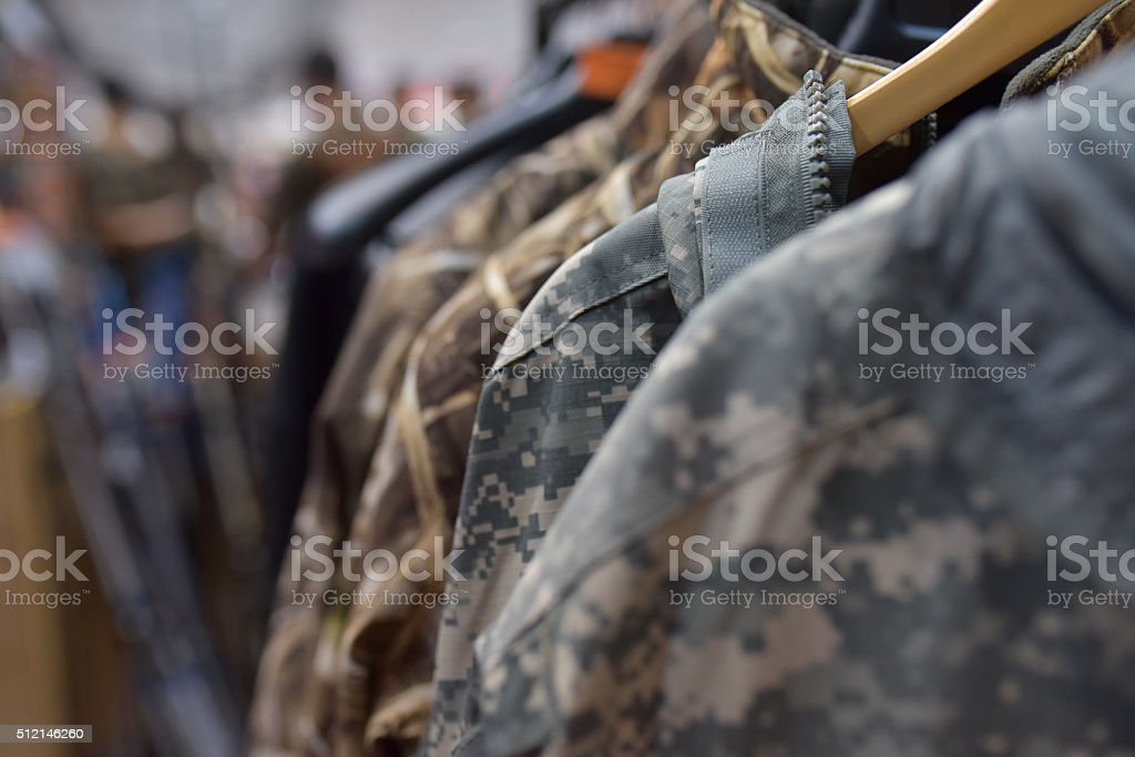 Army clothing stock photo