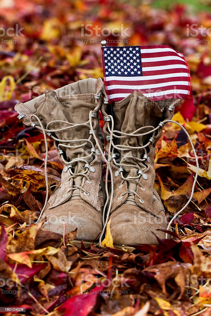 Army combat boots stock photo