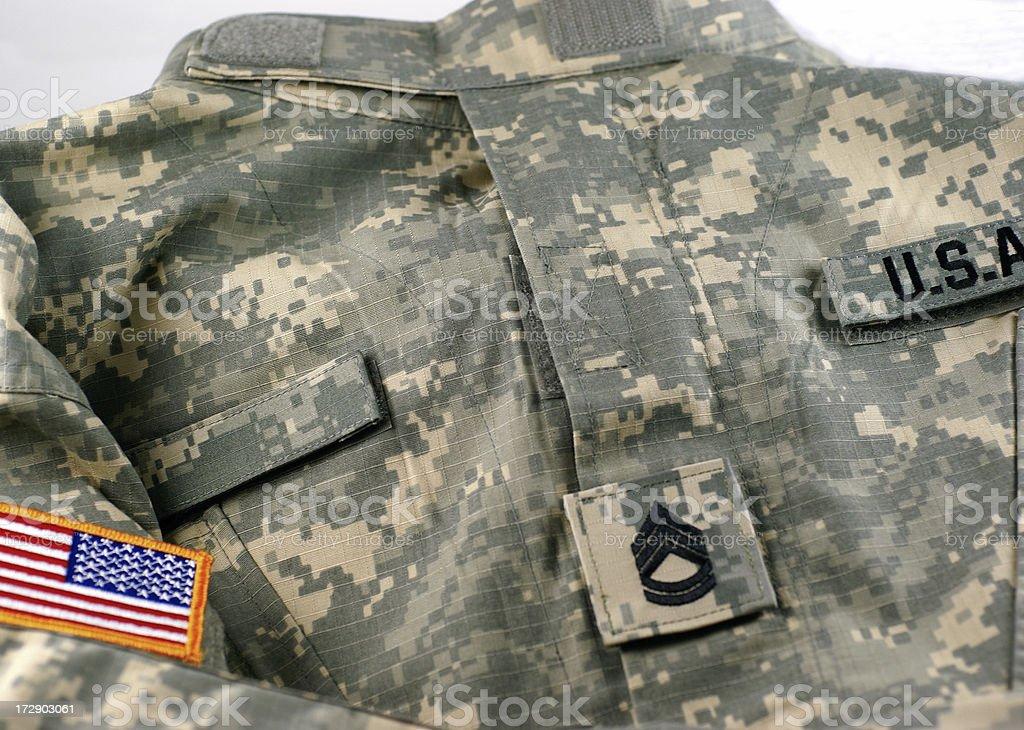 U.S. Army Combat Uniform royalty-free stock photo