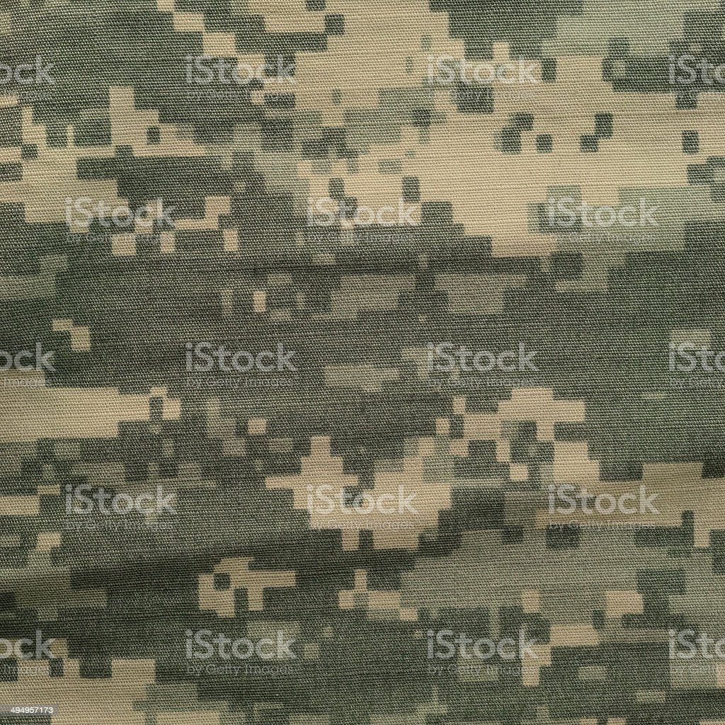 Army combat uniform universal camouflage pattern, digital camo texture background stock photo