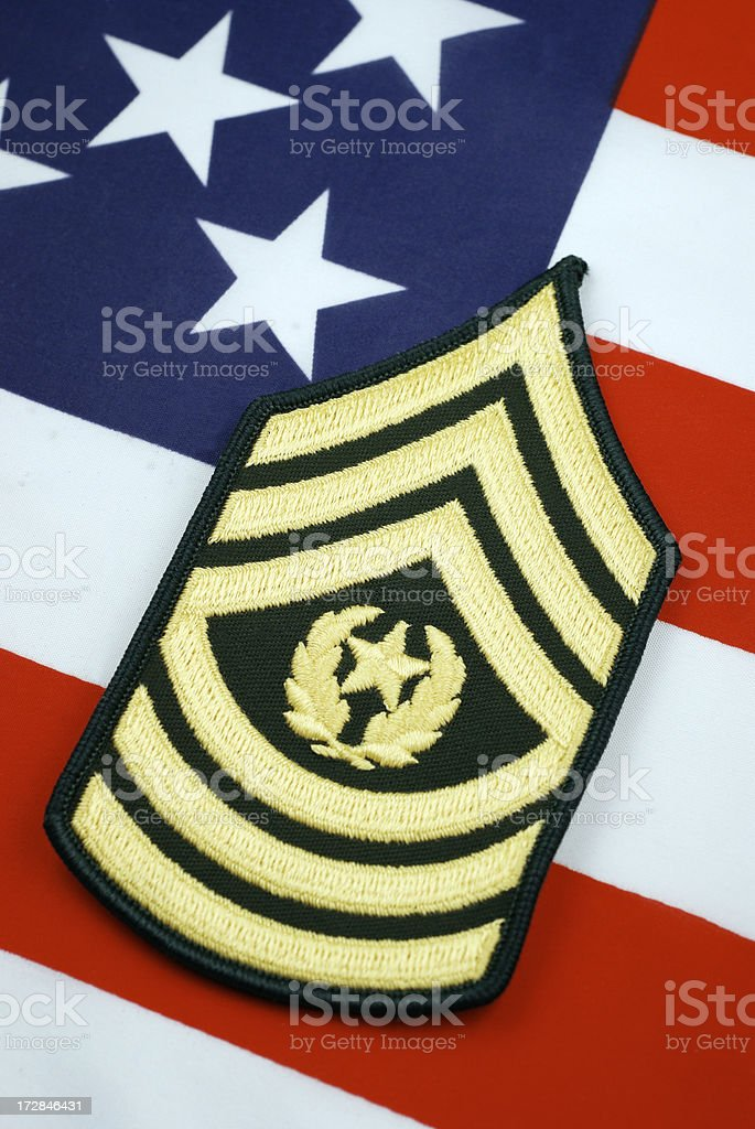 U.S. Army Command Sergeant Major Rank royalty-free stock photo