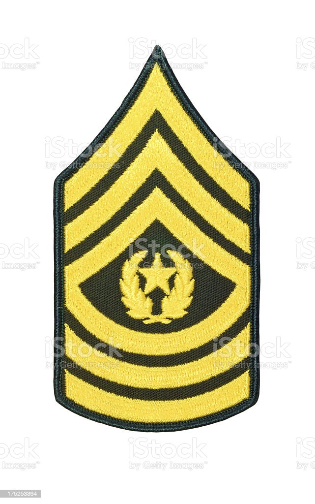 US Army Command Sergeant Rank Patch stock photo