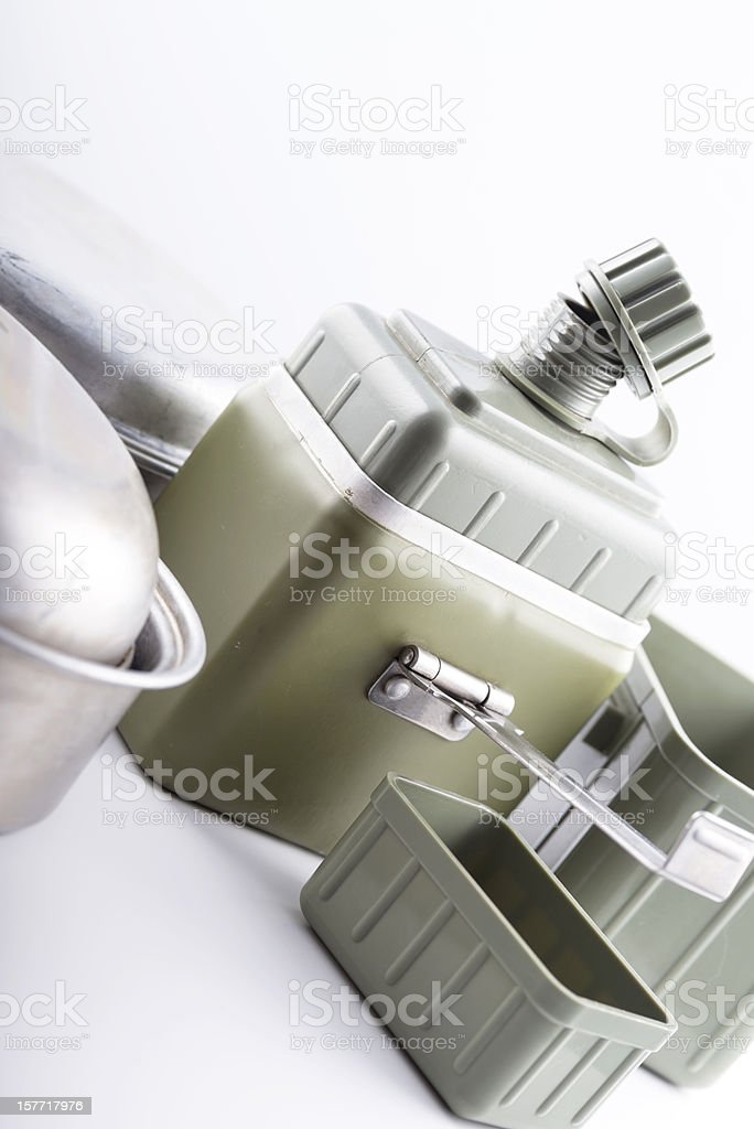 Army Cooking Equipement for Combat Field Training royalty-free stock photo