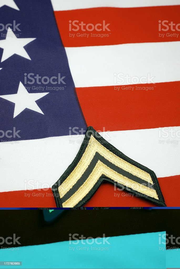 Army Corporal Rank Insignia royalty-free stock photo