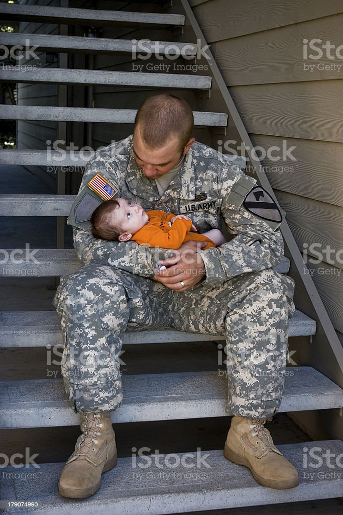 Army Daddy royalty-free stock photo