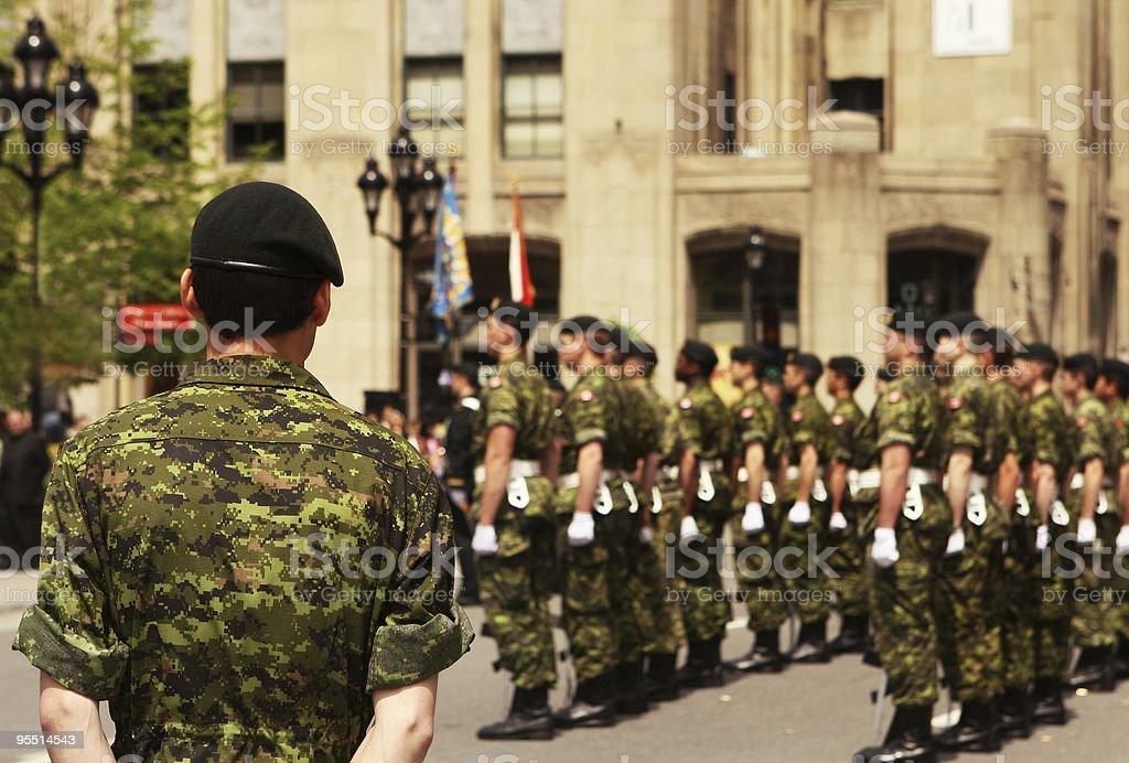 Army Discipline stock photo