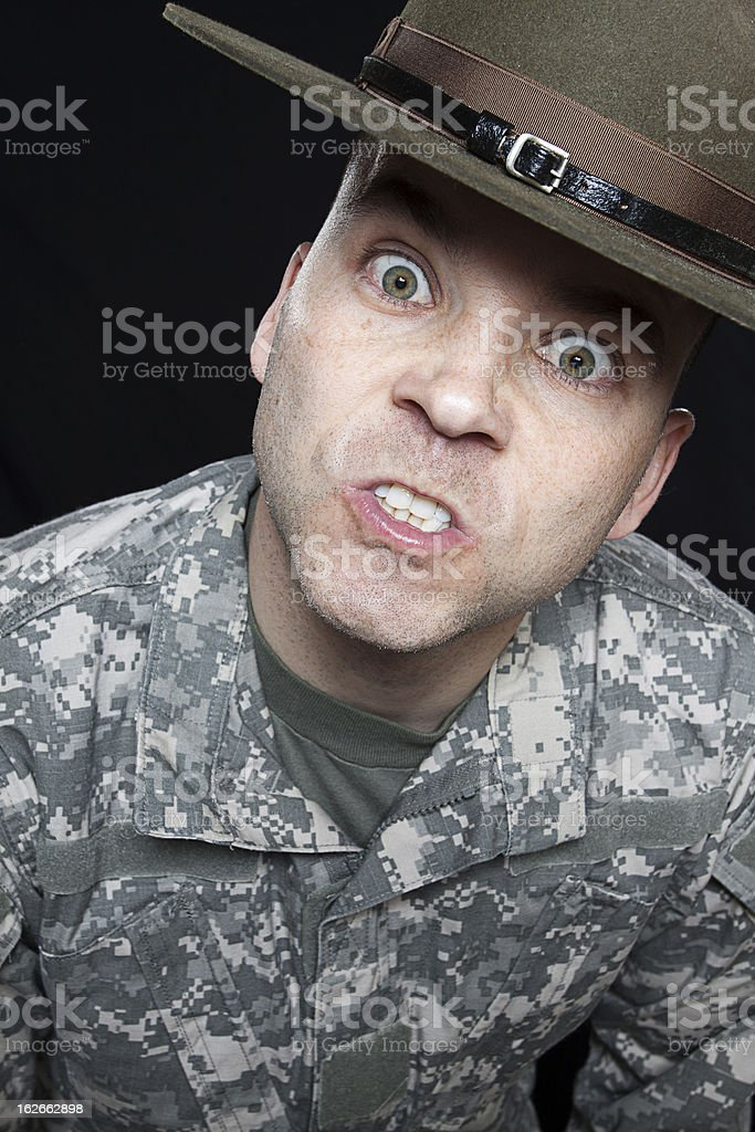 Army Drill Sergeant stock photo