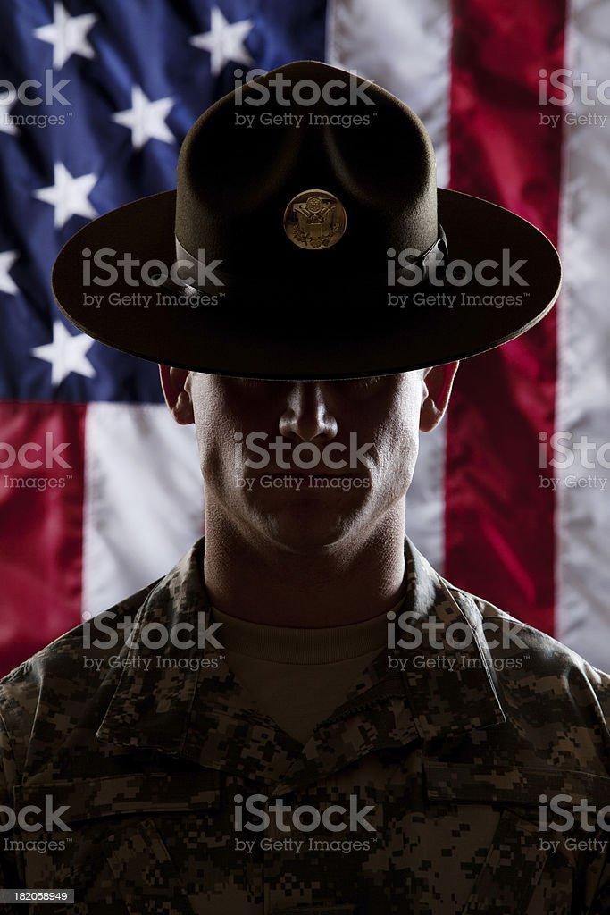 U S Army Drill Sergeant royalty-free stock photo