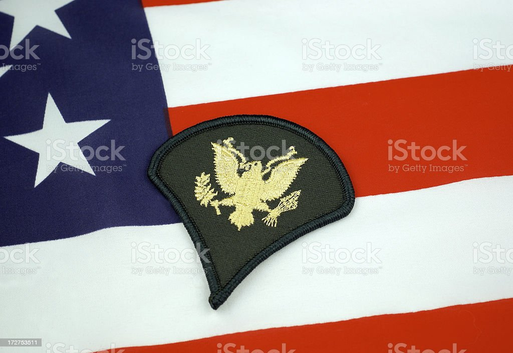 U.S. Army E-4 Rank Insignia royalty-free stock photo
