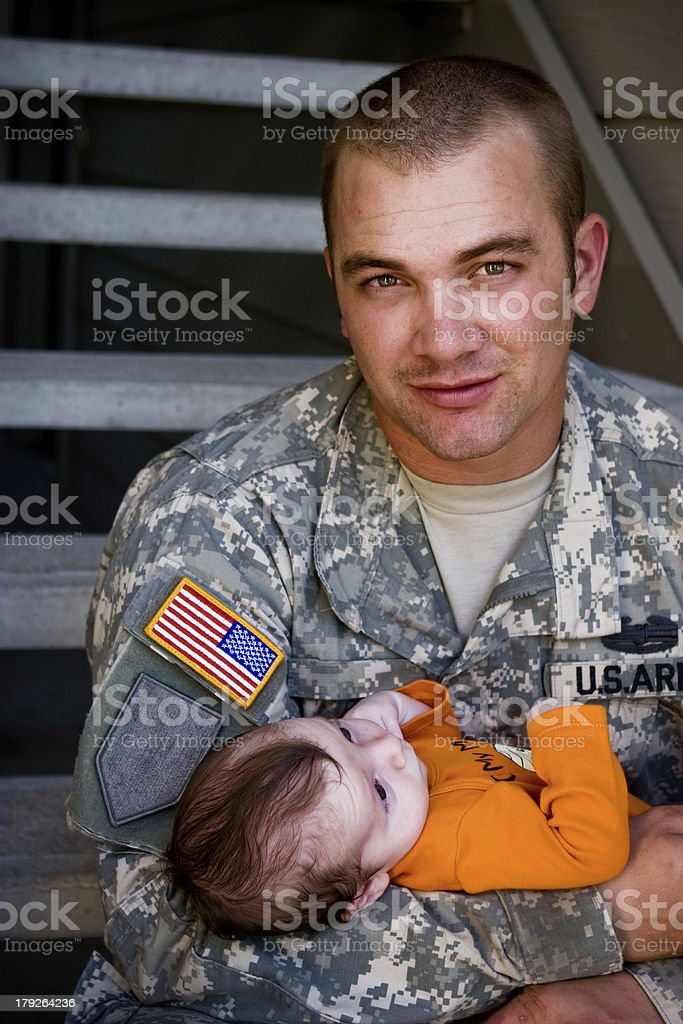 Army Father royalty-free stock photo