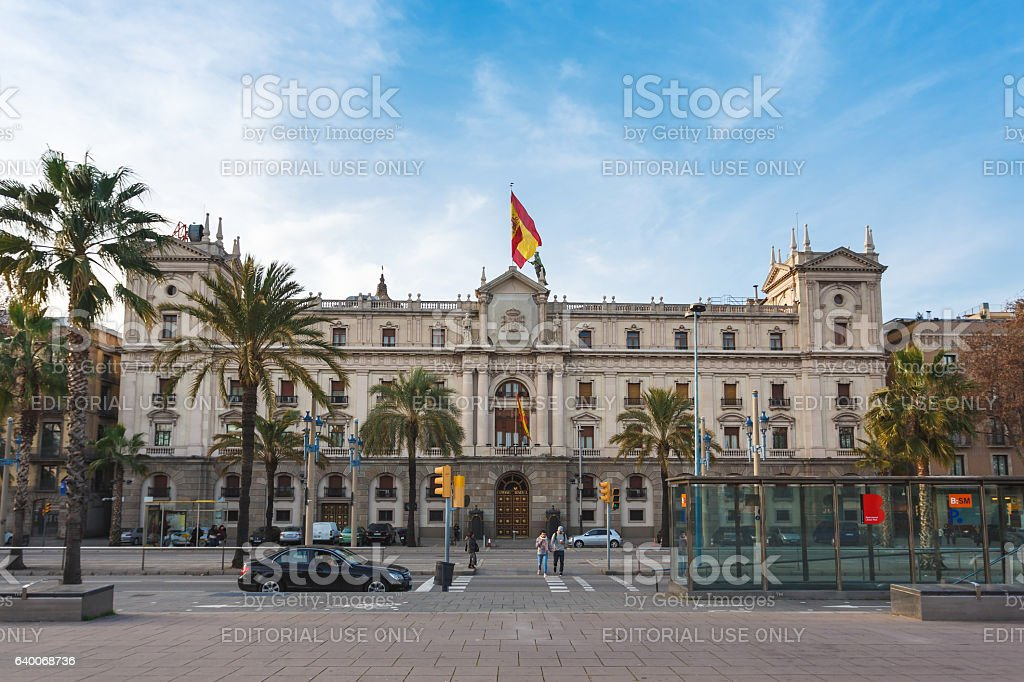 Army General Inspectorate, Barcelona stock photo