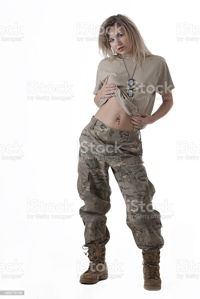 Army girl royalty-free stock photo